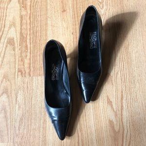 Salvatore ferragamo Heels black pointy toe sz:10